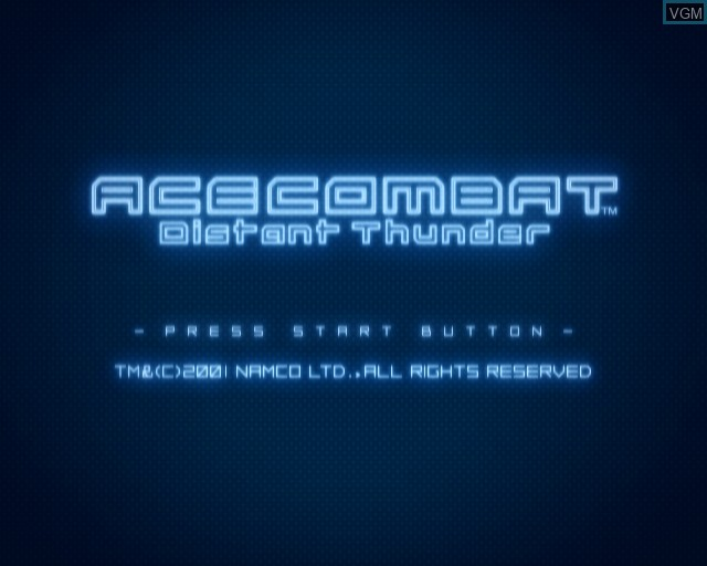 Image de l'ecran titre du jeu Ace Combat - Distant Thunder sur Sony Playstation 2