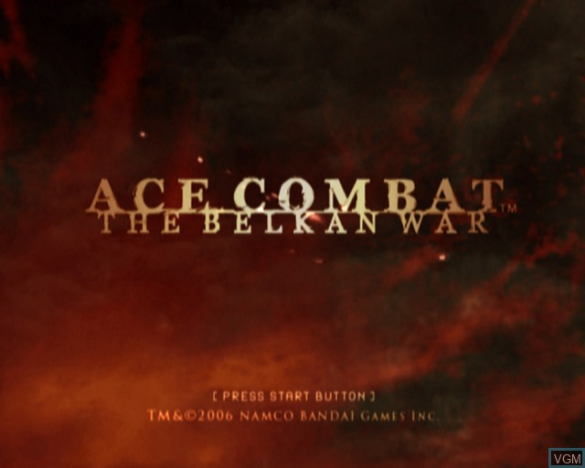 Image de l'ecran titre du jeu Ace Combat - The Belkan War sur Sony Playstation 2