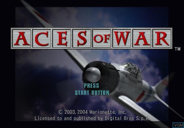 Image de l'ecran titre du jeu Aces of War sur Sony Playstation 2