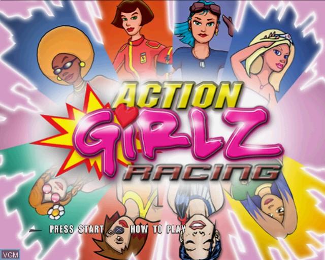 Image de l'ecran titre du jeu Action Girlz Racing sur Sony Playstation 2