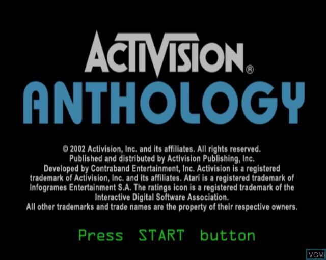 Image de l'ecran titre du jeu Activision Anthology sur Sony Playstation 2