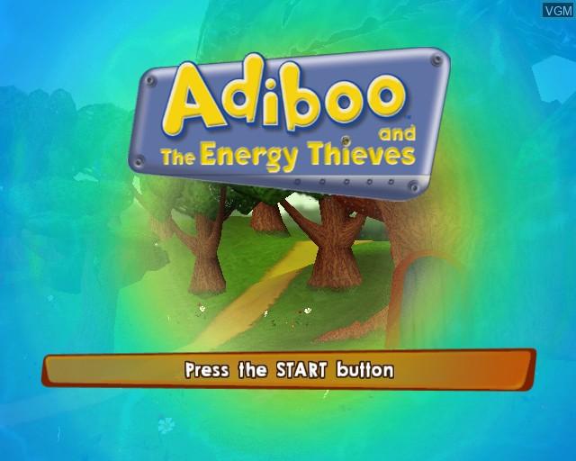 Image de l'ecran titre du jeu Adiboo and the Energy Thieves sur Sony Playstation 2