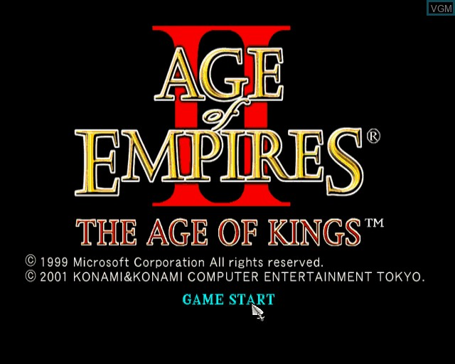 Image de l'ecran titre du jeu Age of Empires II - The Age of Kings sur Sony Playstation 2
