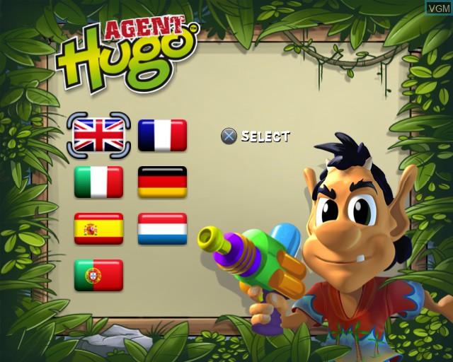 Image de l'ecran titre du jeu Agent Hugo - Hula Holiday sur Sony Playstation 2