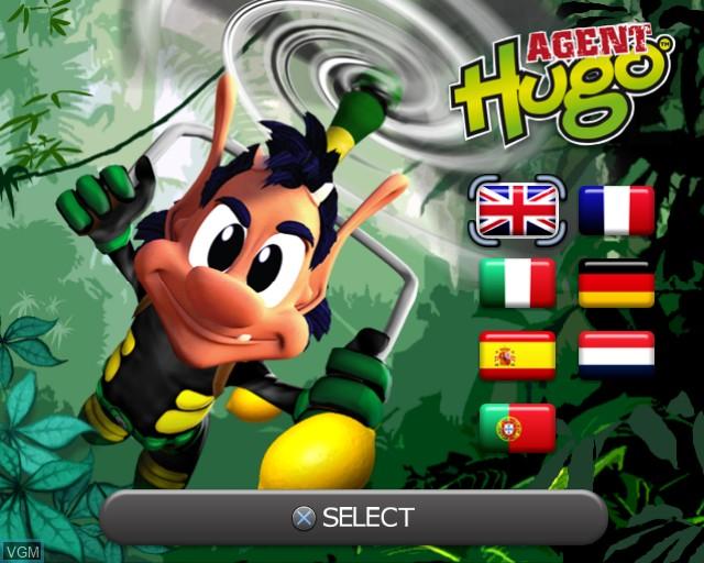 Image de l'ecran titre du jeu Agent Hugo - Lemoon Twist sur Sony Playstation 2