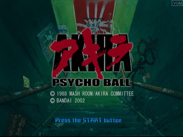 Image de l'ecran titre du jeu Akira Psycho Ball sur Sony Playstation 2