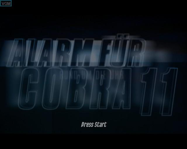 Image de l'ecran titre du jeu Alarm for Cobra 11 Vol. 2 - Hot Pursuit sur Sony Playstation 2