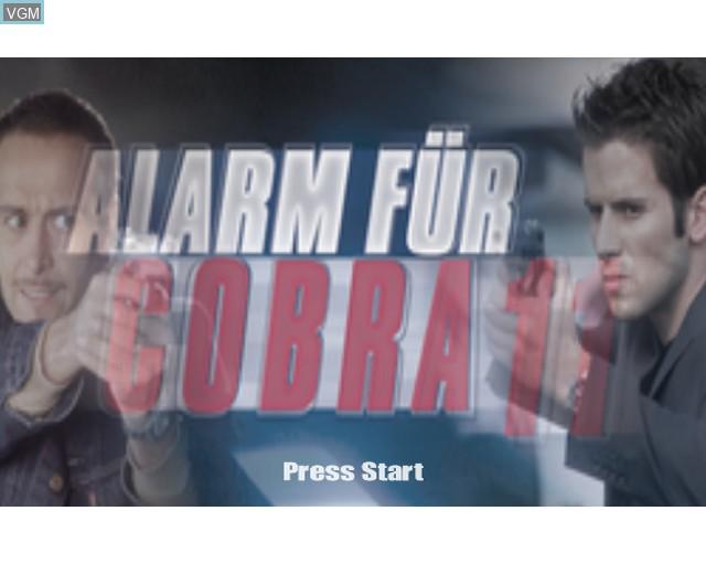 Image de l'ecran titre du jeu Alarm for Cobra 11 Vol. 2 sur Sony Playstation 2