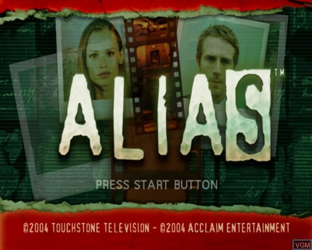 Image de l'ecran titre du jeu Alias sur Sony Playstation 2