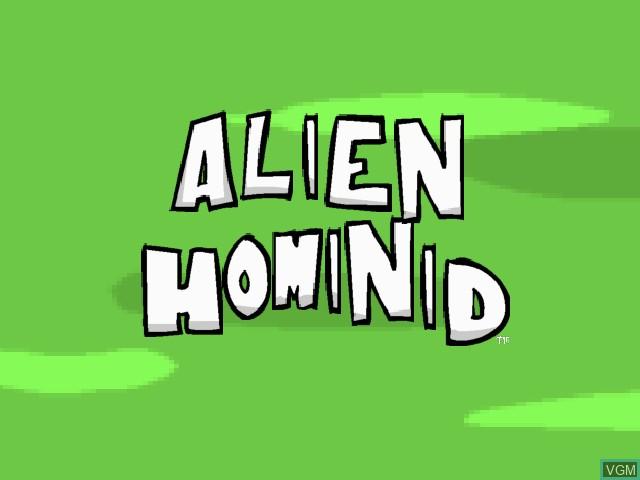Image de l'ecran titre du jeu Alien Hominid sur Sony Playstation 2