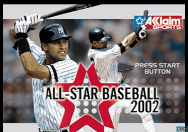 Image de l'ecran titre du jeu All-Star Baseball 2002 sur Sony Playstation 2