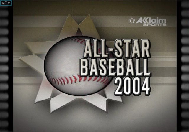 Image de l'ecran titre du jeu All-Star Baseball 2004 sur Sony Playstation 2