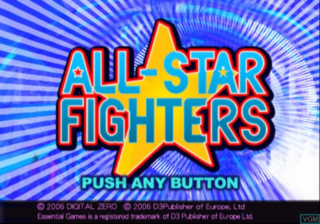 Image de l'ecran titre du jeu All-Star Fighters sur Sony Playstation 2
