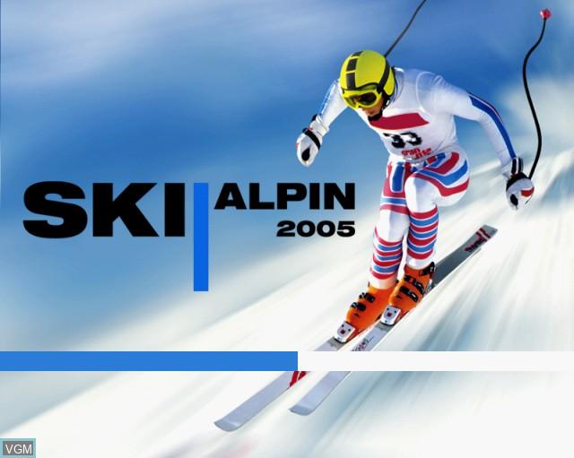 Image de l'ecran titre du jeu Alpine Skiing 2005 sur Sony Playstation 2