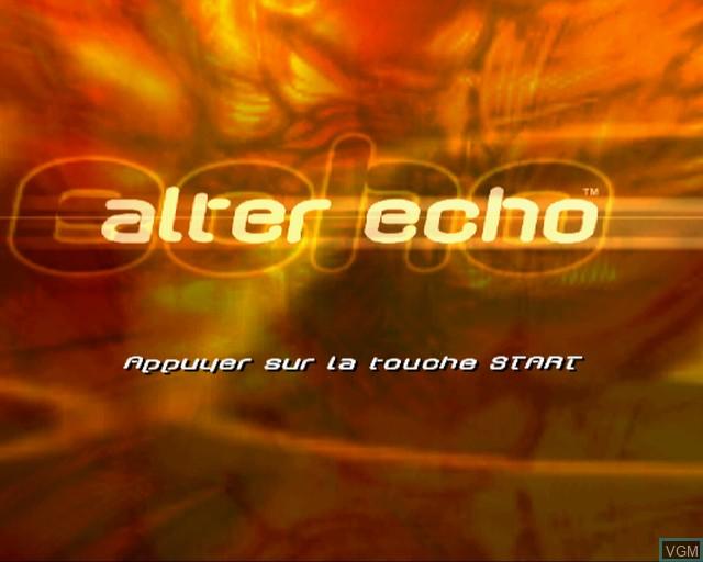 Image de l'ecran titre du jeu Alter Echo sur Sony Playstation 2