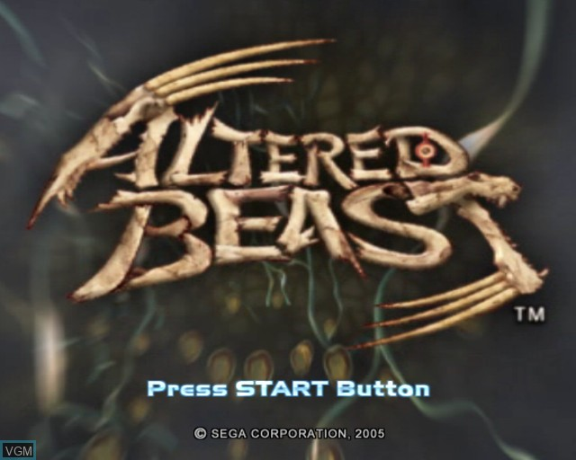 Image de l'ecran titre du jeu Altered Beast sur Sony Playstation 2