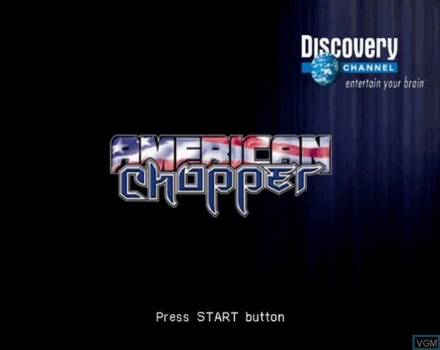 Image de l'ecran titre du jeu American Chopper sur Sony Playstation 2