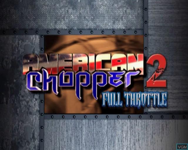 Image de l'ecran titre du jeu American Chopper 2 - Full Throttle sur Sony Playstation 2