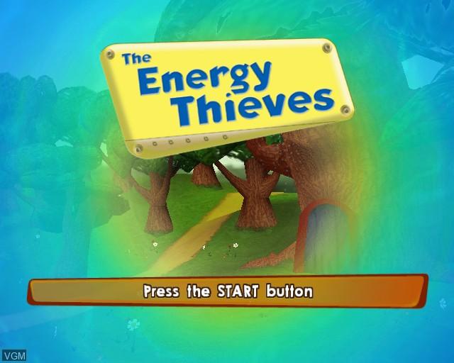 Image de l'ecran titre du jeu Energy Thieves, The sur Sony Playstation 2