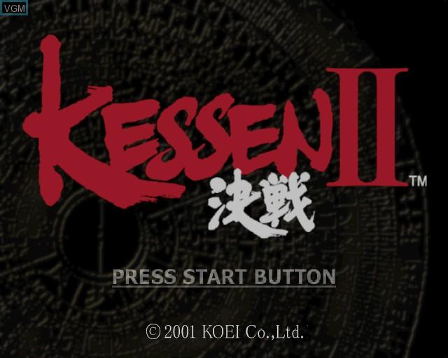 Image de l'ecran titre du jeu Kessen II sur Sony Playstation 2