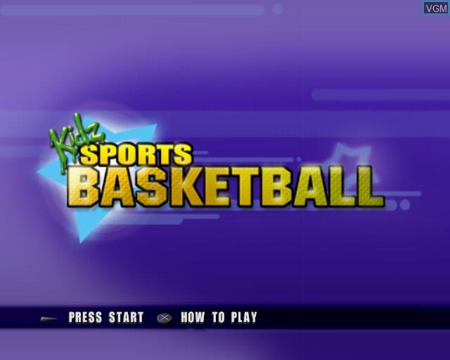 Image de l'ecran titre du jeu Kidz Sports Basketball sur Sony Playstation 2