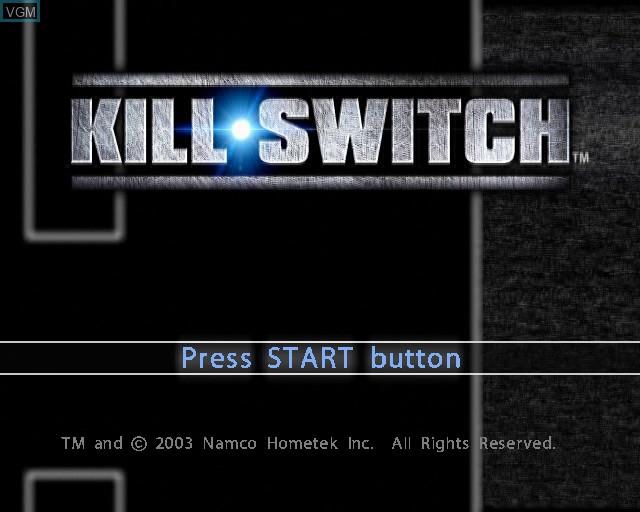Image de l'ecran titre du jeu kill.switch sur Sony Playstation 2