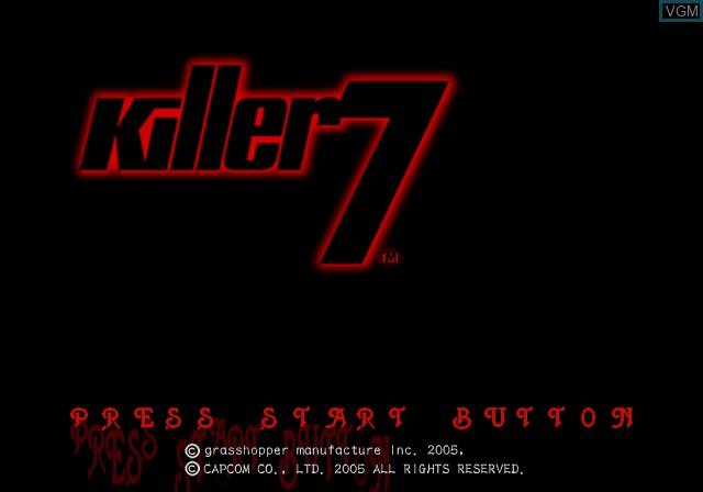 Image de l'ecran titre du jeu Killer7 sur Sony Playstation 2