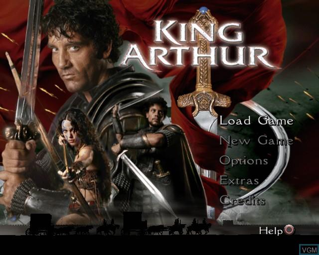 Image de l'ecran titre du jeu King Arthur sur Sony Playstation 2