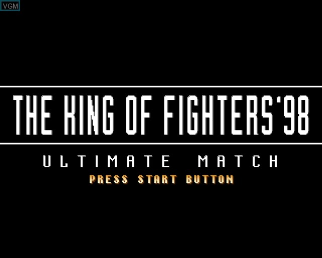 Image de l'ecran titre du jeu King of Fighters '98 Ultimate Match, The sur Sony Playstation 2