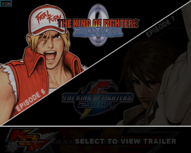 Image de l'ecran titre du jeu King of Fighters 2000-2001, The - The Saga Continues sur Sony Playstation 2