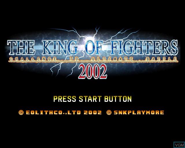 Image de l'ecran titre du jeu King of Fighters 2002, The sur Sony Playstation 2