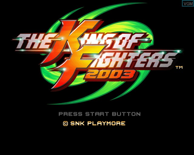 Image de l'ecran titre du jeu King of Fighters 2003, The sur Sony Playstation 2