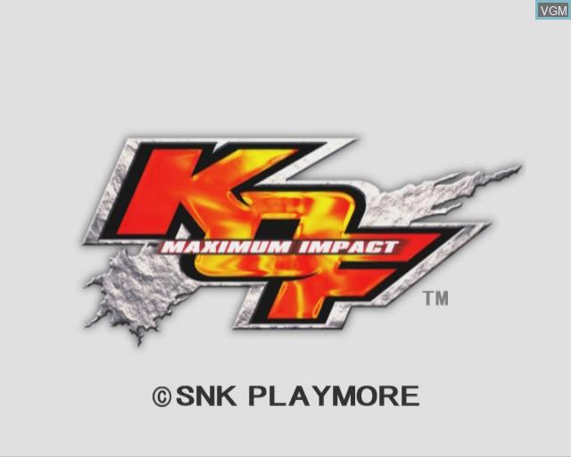 Image de l'ecran titre du jeu King of Fighters - Maximum Impact sur Sony Playstation 2