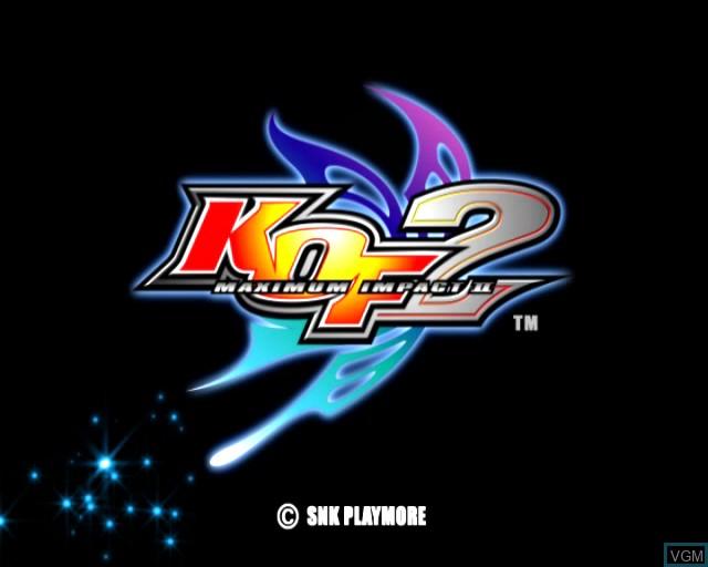 Image de l'ecran titre du jeu King of Fighters - Maximum Impact 2 sur Sony Playstation 2