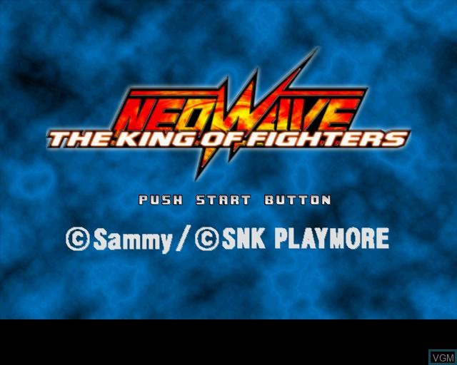 Image de l'ecran titre du jeu King of Fighters NeoWave, The sur Sony Playstation 2