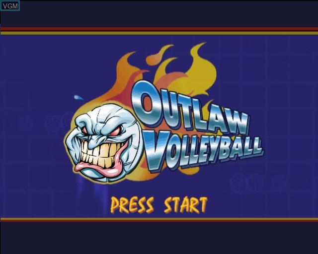 Image de l'ecran titre du jeu Outlaw Volleyball Remixed sur Sony Playstation 2