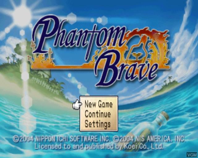 Image de l'ecran titre du jeu Phantom Brave sur Sony Playstation 2