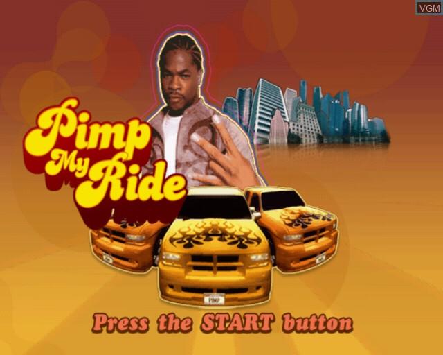 Image de l'ecran titre du jeu Pimp My Ride sur Sony Playstation 2
