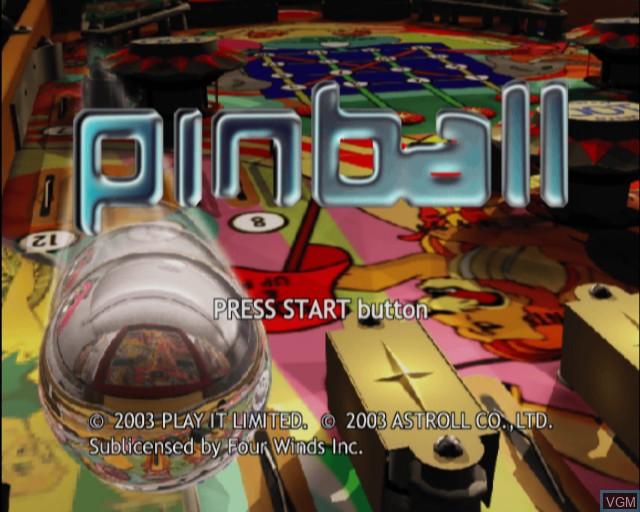 Image de l'ecran titre du jeu Pinball sur Sony Playstation 2