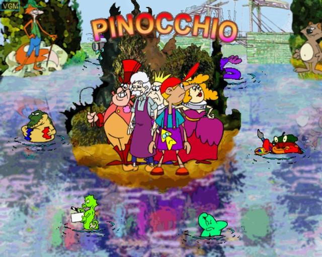 Image de l'ecran titre du jeu Pinocchio sur Sony Playstation 2
