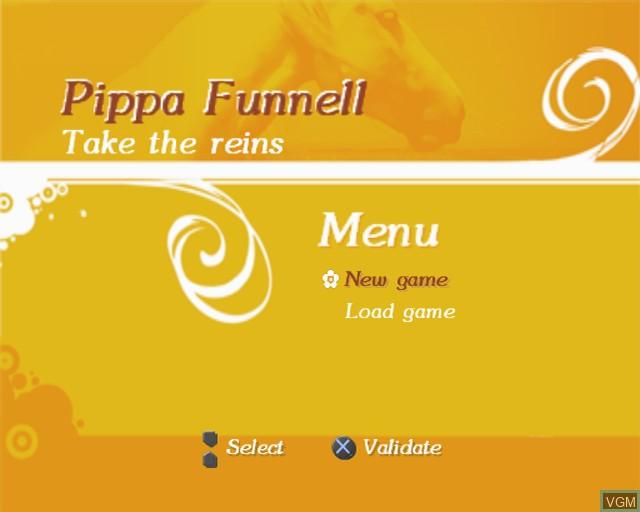 Image de l'ecran titre du jeu Pippa Funnell - Take the Reins sur Sony Playstation 2
