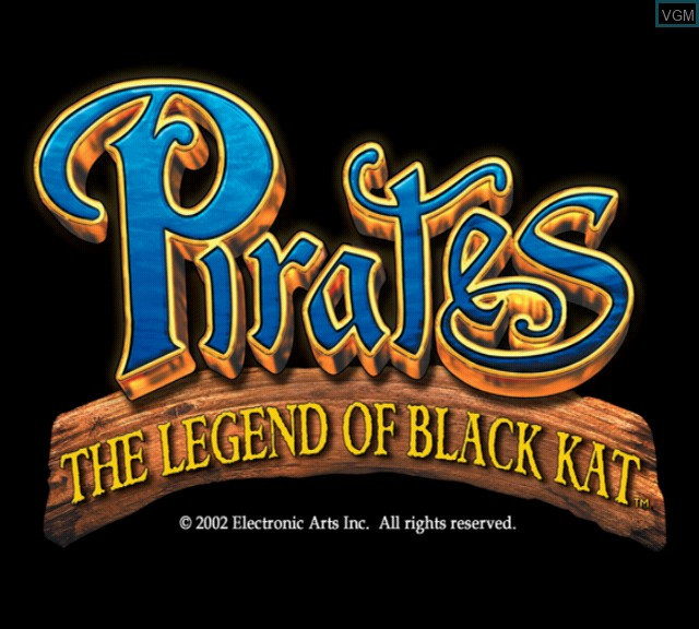 Image de l'ecran titre du jeu Pirates - The Legend of Black Kat sur Sony Playstation 2