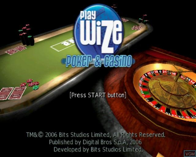 Image de l'ecran titre du jeu Playwize Poker & Casino sur Sony Playstation 2
