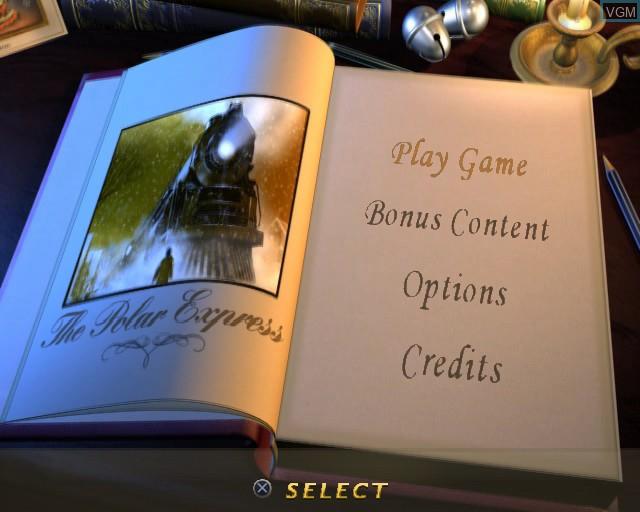 Image de l'ecran titre du jeu Polar Express, The sur Sony Playstation 2