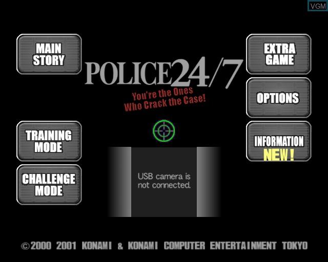 Image de l'ecran titre du jeu Police 24/7 sur Sony Playstation 2