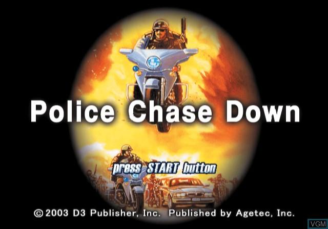 Image de l'ecran titre du jeu Police Chase Down sur Sony Playstation 2