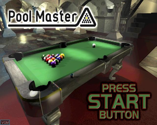 Image de l'ecran titre du jeu Pool Master sur Sony Playstation 2