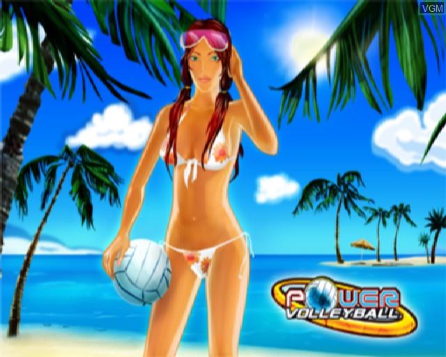 Image de l'ecran titre du jeu Power Volleyball sur Sony Playstation 2