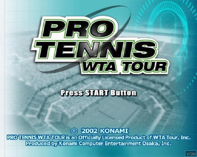 Image de l'ecran titre du jeu Pro Tennis WTA Tour sur Sony Playstation 2