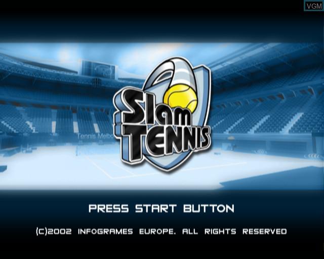Image de l'ecran titre du jeu Slam Tennis sur Sony Playstation 2